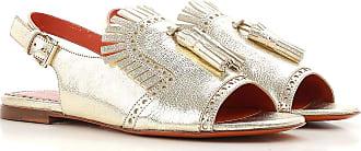 Sandalen für Damen Günstig im Sale, Silber, Leder, 2017, 37 40 Santoni
