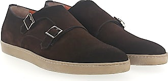 Double-Monk 14851 calfskin black Santoni UWYnb6