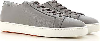 Sneaker für Herren, Tennisschuh, Turnschuh Günstig im Sale, Graugrün, Wildleder, 2017, 39.5 40 41.5 42.5 43 44 Santoni
