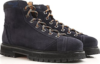 Boots for Men, Booties, Dark Night Blue, Leather, 2017, 5 Santoni