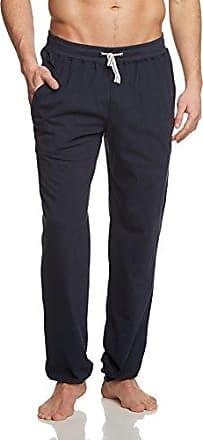 Hose lang m. Bündchen - Pantalones De Pijama Hombre, color azul, talla Large (Talla fabricante: 052) Schiesser