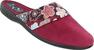 Damen Schuhe Hausschuhe Freizeitschuhe Pantoffel Home Schlüpper Pantoffeln Schwarz 38 AjLrP
