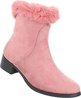 Damen Schuhe Stiefeletten Boots Rosa 39 Schuhcity24 LIUuxcpXIL