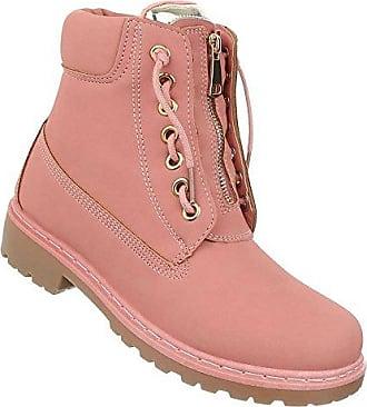Damen Schuhe Stiefeletten Boots Altrosa 39 JXGjlKyW