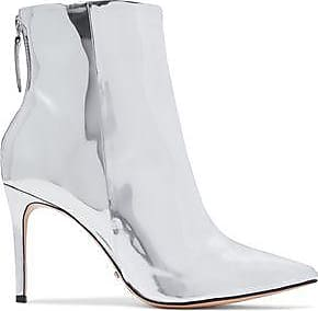 Schutz Woman Ginny Mirrored-leather Ankle Boots Size 6.5 gxTki