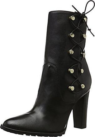 New Navy Lace Up, Bottines Femme - Noir - Noir, 38