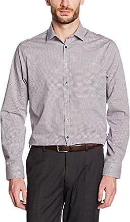 677165, Camisa para Hombre, Rojo (Bordeaux 49), Tamaño del Collar: 46 Seidensticker