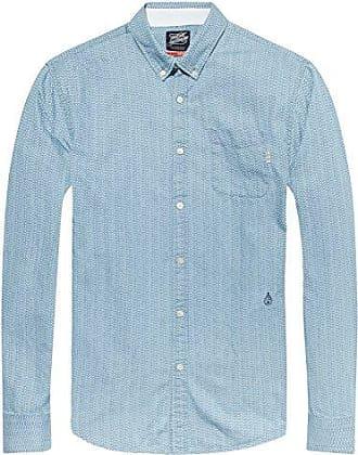 AMS Slim Fit Simple Lightweight Printed, Camisa para Hombre, Multicolor (Combo B 18), Medium Scotch & Soda