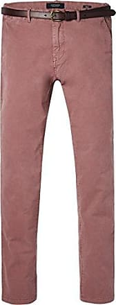 Classic Garment Dyed Chino Pant In Stretch Cotton Quality, Pantalones para Hombre, Rosa (Old Pink 1941), W34/L34 Scotch & Soda