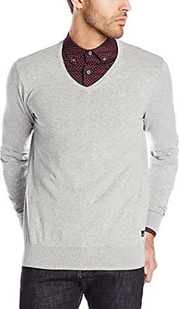Classic Melange V-neck Pull, suéter Hombre, Gris (Grey 970), Small Scotch & Soda