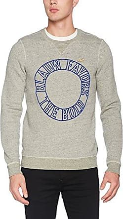 Scotch&Soda AMS Blauw Classic in Seasonal Colours and Regular Fit, Sweat-Shirt Homme, (Night 58), Large