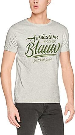 Scotch&Soda Ams Blauw Seasonal Graphic, Sweat-Shirt Homme, (Grey Melange 98), Large
