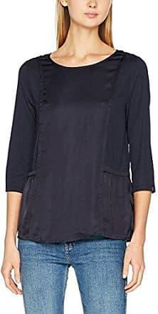 Scotch&Soda Maison Long Sleeve Top in Jersey Mixed with Woven, T-Shirt Femme, (Ecru 05), X-Large