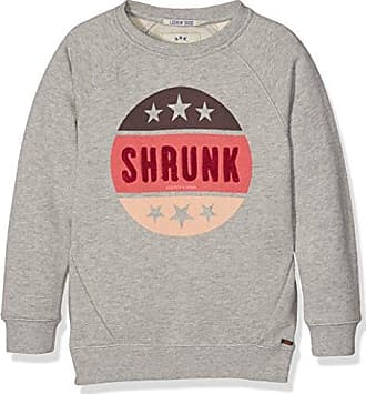 Scotch&Soda Shrunk Crew Neck with Different Artworks and Washings, Sweat-Shirt Gar?on, (Ecru 02), 128