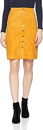 Selected Sfatla Mw Leather Skirt, Jupe Femme, (Desert Sun), 38