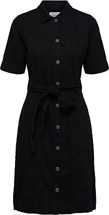 Denim Kleid Dames Zwart Selected