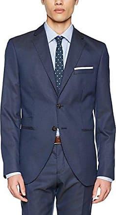 Shdone-Maze M Struct. Blazer STS, Chaqueta de Traje para Hombre, Azul (Medium Blue Melange), (Talla del Fabricante: 46) Selected