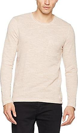 Shnotto Crew Neck Sweat, Sudadera para Hombre, Rojo (Bitter Chocolate), L Selected