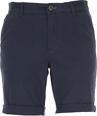 Shorts para Hombre, Pantalones Cortos Baratos en Rebajas, Azul Marino, Lino, 2017, M S XL Selected