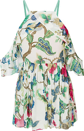 Discount Classic Websites cold-shoulder floral-print top - Nude & Neutrals Semicouture Cheap Latest Clearance Largest Supplier Fzo2wg