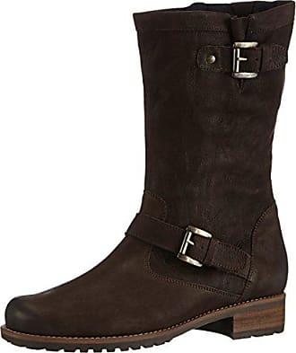Evans Damen Abby Biker Boots, Schwarz (Black 01), 43 EU