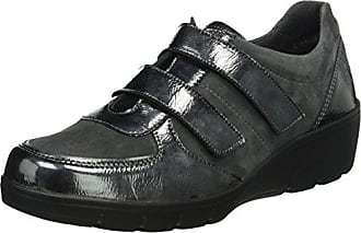 LuxatJohan - Mocasines Mujer, Gris (Gris (Anthracite 123)), 41