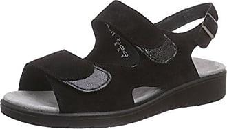 Dunja, Damen Knöchelriemchen Sandalen mit Keilabsatz, Schwarz (001 - Schwarz), 41 1/3 EU (7.5 Damen UK)Semler