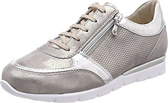 Nelly - Sneakers Donna, Bianco (Weiss-Silber), 40 Semler