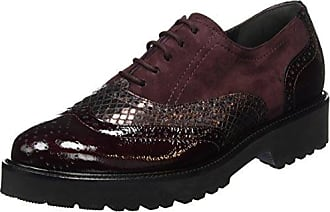 BOB BOB - Zapatos de cordones de cuero para mujer, color rojo, talla 36 nat-2