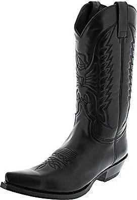 Sendra Boots 4660 Florentic Sprinter Negro Lederstiefelette für Damen und Herren Schwarz, Groesse:45