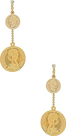Coin Drop Earring in Metallic Gold Shashi LbCDekvZZ0