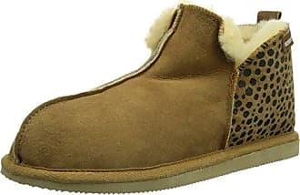 Shepherd Annie Leopard Chestnut, Schuhe, Sandalen & Hausschuhe, Lammfell-Hausschuhe , Braun, Female, 36