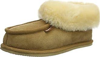 924 Shepherd - Pantoufles Chaud Avec Femme Doublure En Cuir, Rouge, Taille 36 Eu