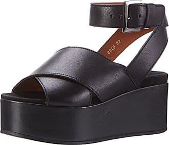 Platau, Sandales Compensées Femme, Noir (Velvet Black), 37 EUShoe Biz