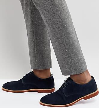 Zapatos Derby de ante en color azul marino Duke de Silver Street Silver Street London ePagYbq5HQ
