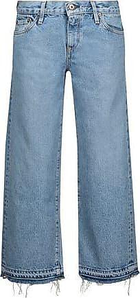 Victoria, Victoria Beckham Woman Cropped Appliquéd Bootcut Jeans Light Denim Size 28 Victoria Beckham