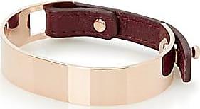 Simons Leather and metal cuff bracelet 2ioRwZTvn
