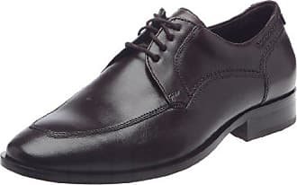 Sioux 27954 - Zapatos clásicos de cuero para hombre, color negro, talla 44