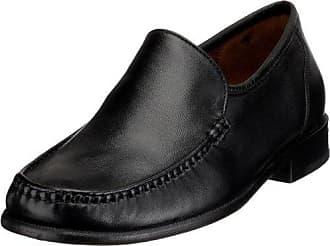 Sioux 27954 - Zapatos clásicos de cuero para hombre, color negro, talla 40.5