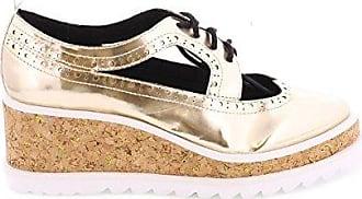 77719 - Zapatos de Vestir para Mujer, Color Plata/Blanco, Talla 36 Sixtyseven