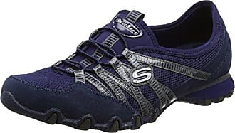 Skechers Bikers 21159 Chaud Billets - Femmes Chaussures En Cuir, Couleur Bleu, Taille 39