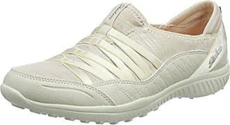 Skechers Breathe-Easy - Sweet Darling, Zapatillas para Mujer, Beige (Natural/Silver), 40 EU