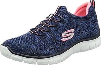 Skechers Performance Go Run 400-Instant, Zapatillas de Entrenamiento para Mujer, Azul (Nvy/Pnk), 35 EU