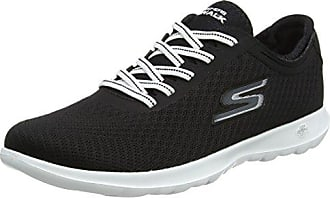 Skechers Go Walk Lite-Impulse, Zapatillas para Mujer, Negro (Black/White), 35.5 EU