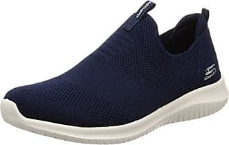 Skechers Damen Microburst-Topnotch Slip on Sneaker, Blau (Navy), 40 EU