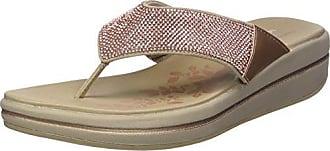 Upgrades, Sandalias de Plataforma para Mujer, Dorado (Rose Gold), 38 EU Skechers