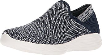 Skechers Go Step Lite-Ultrasock, Sneaker a Collo Alto Donna, Blu (Navy/White), 35.5 EU