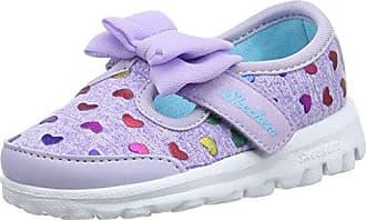 Skechers Go Walk, Zapatillas para Niñas, Gris (Grey/Pink), 24 EU
