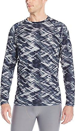 Skechers Men's Long Sleeve Sport Top, Ribbon Print Black, Large