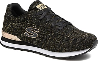 Skechers Frauen Microburst Bungee Lace Sneaker, Schwarz
